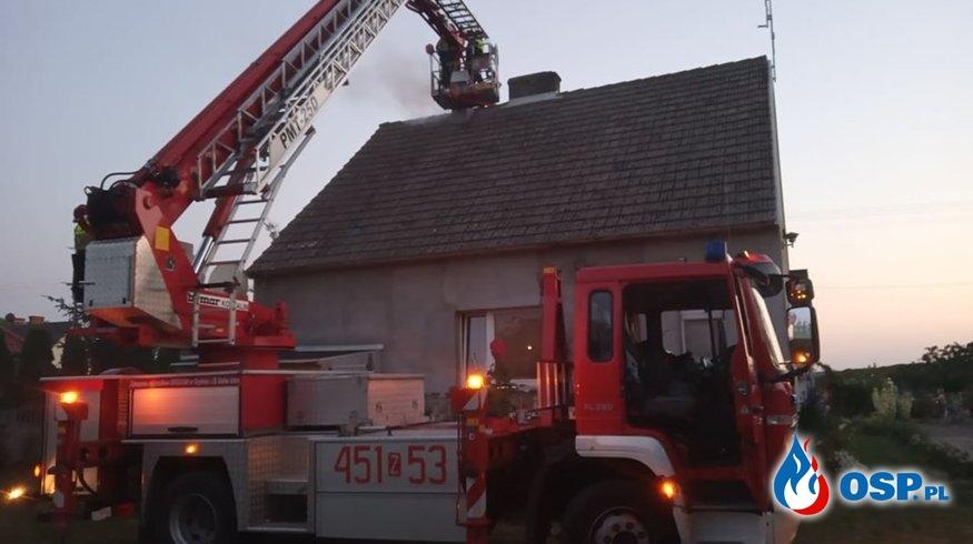 Pożar komina w Żelechowie OSP Ochotnicza Straż Pożarna