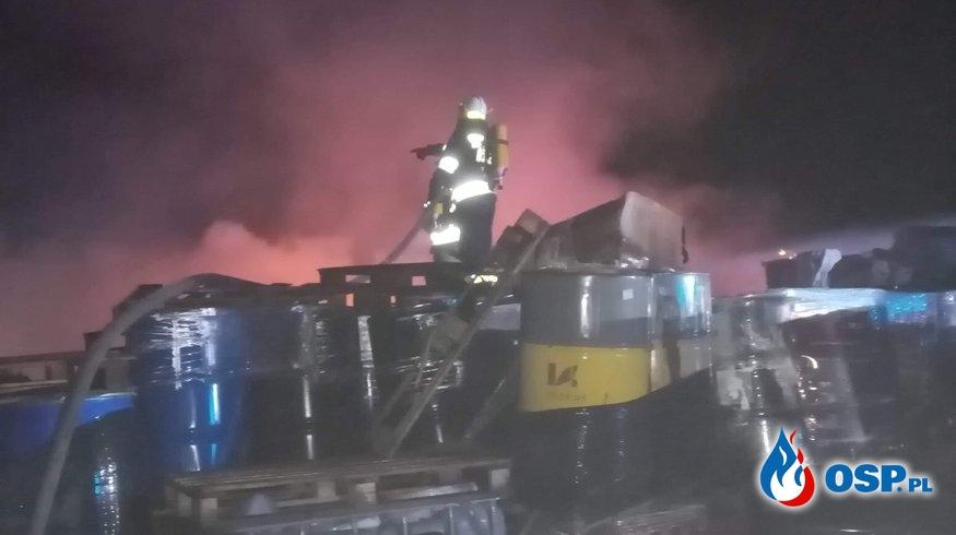 Ludzisko - Pożar na składowisku złomu OSP Ochotnicza Straż Pożarna
