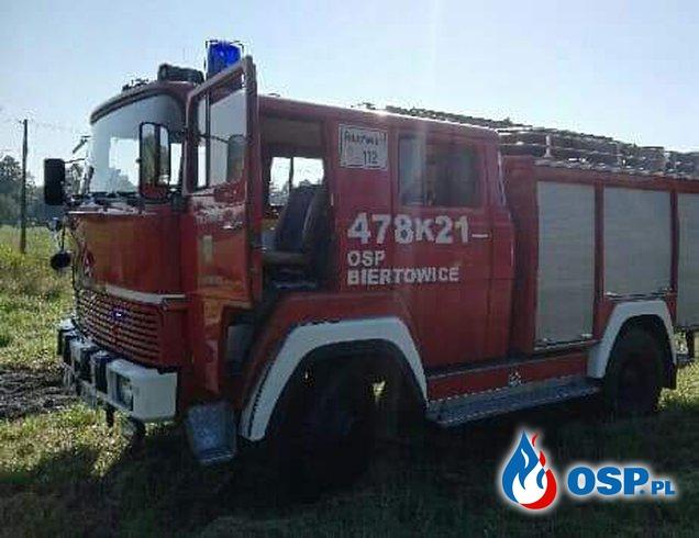 Pożar słomy w Krzywaczce OSP Ochotnicza Straż Pożarna