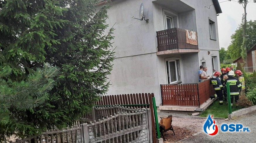 Pożar budynku mieszkalnego - Spytkowice OSP Ochotnicza Straż Pożarna