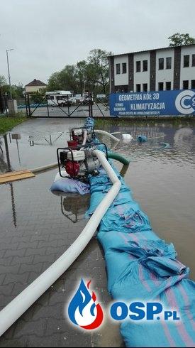 Kierowanie ruchem oraz pompowanie wody OSP Ochotnicza Straż Pożarna
