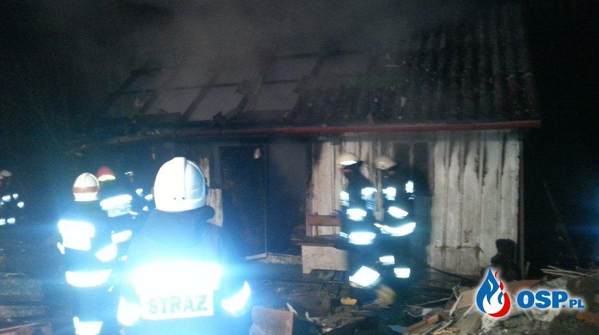 Pożar budynku gospodarczego w Siedliskach OSP Ochotnicza Straż Pożarna