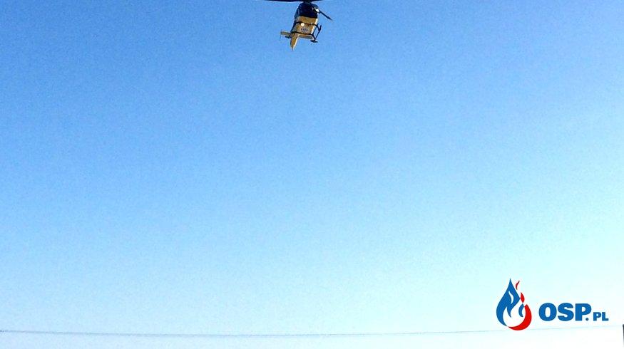 Zabezpieczenie lądowiska dla helikoptera LPR OSP Ochotnicza Straż Pożarna