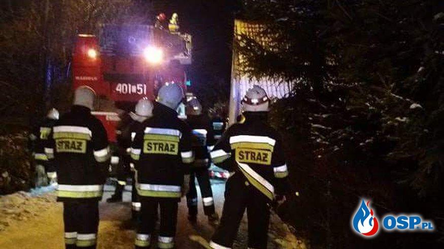 10.01- Pożar sadzy w przewodzie kominowym OSP Ochotnicza Straż Pożarna