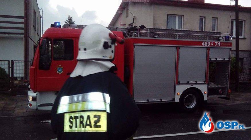 Usuwanie skutków nawałnicy OSP Ochotnicza Straż Pożarna
