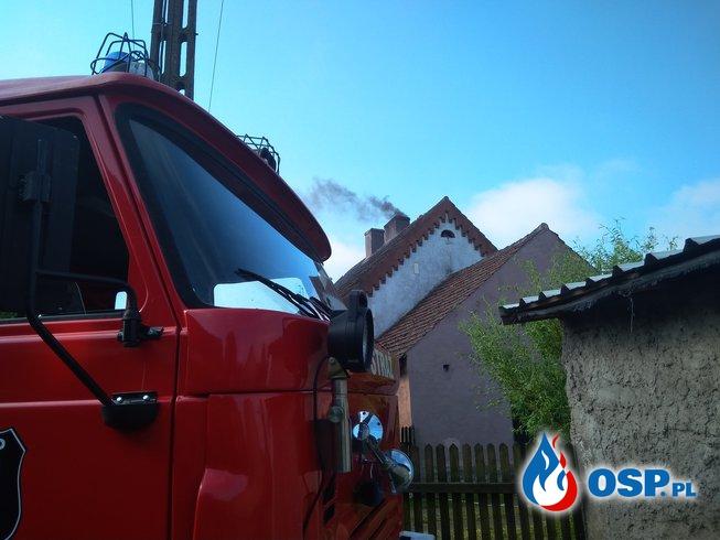 04.06.2018r. Pożar przewodu kominowego m.Bińcze OSP Ochotnicza Straż Pożarna