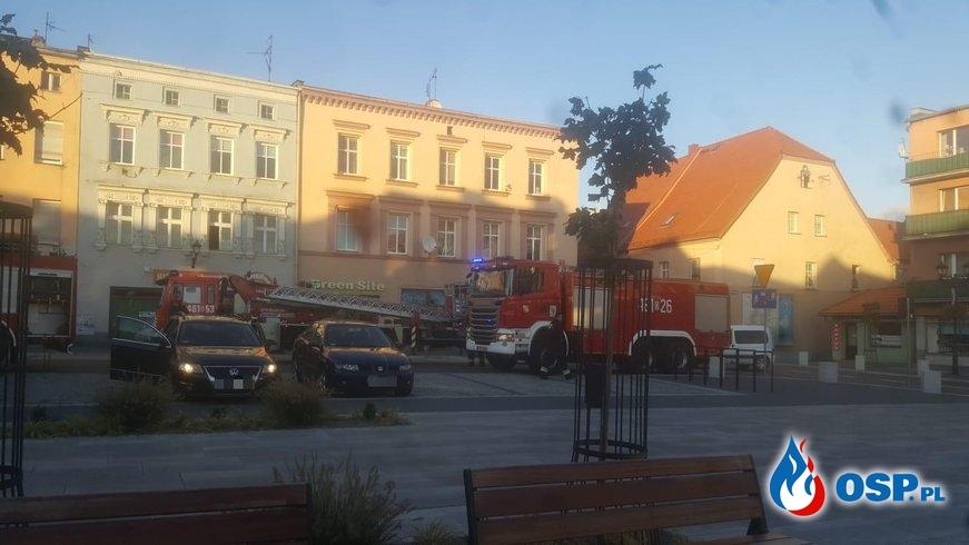 """Pożar w supermarkecie """"Delikatesy Centrum"""" na rynku w Białej OSP Ochotnicza Straż Pożarna"""