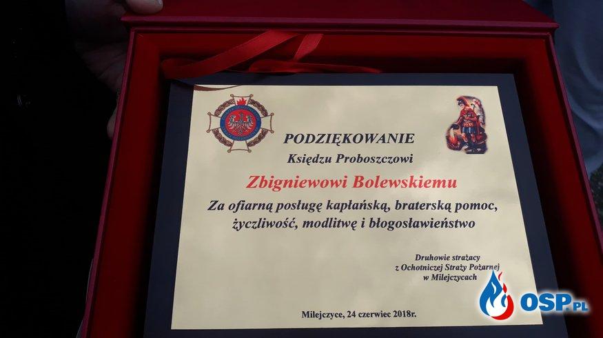 Pożegnanie księdza Zbigniewa OSP Ochotnicza Straż Pożarna