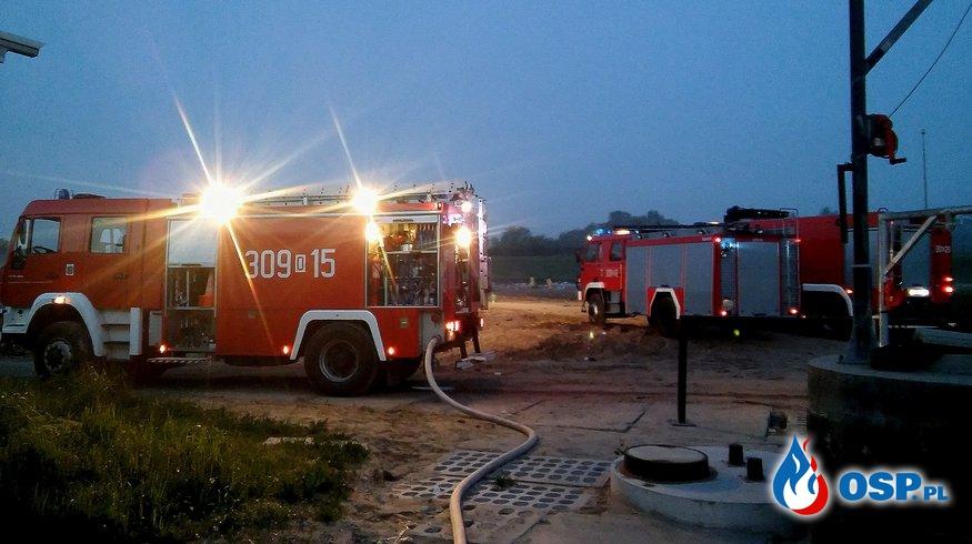 Pożar na wysypisku śmieci OSP Ochotnicza Straż Pożarna