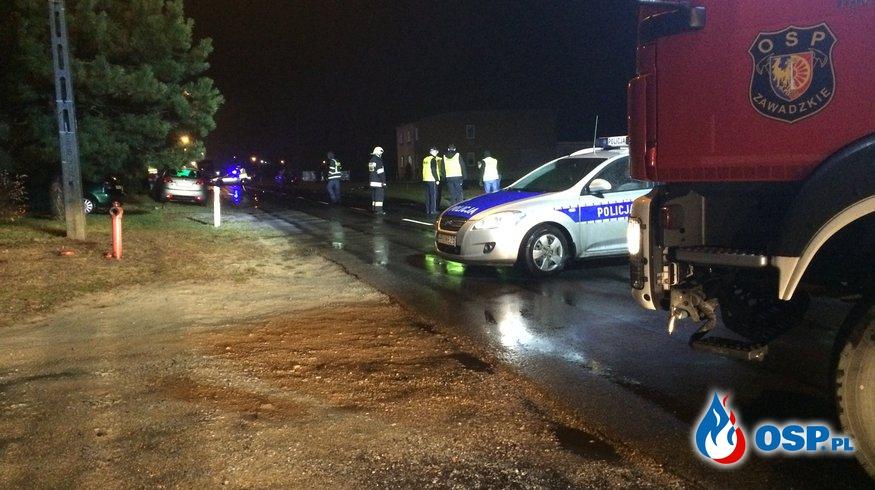 Śmiertelne potrącenie rowerzystki w Żędowicach - sprawca uciekł. OSP Ochotnicza Straż Pożarna