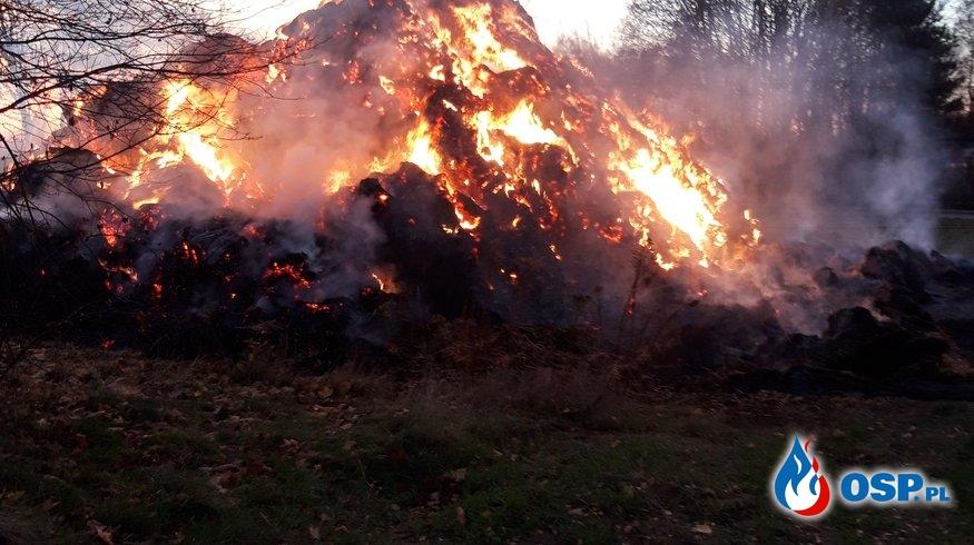 Pożar stery słomy OSP Ochotnicza Straż Pożarna