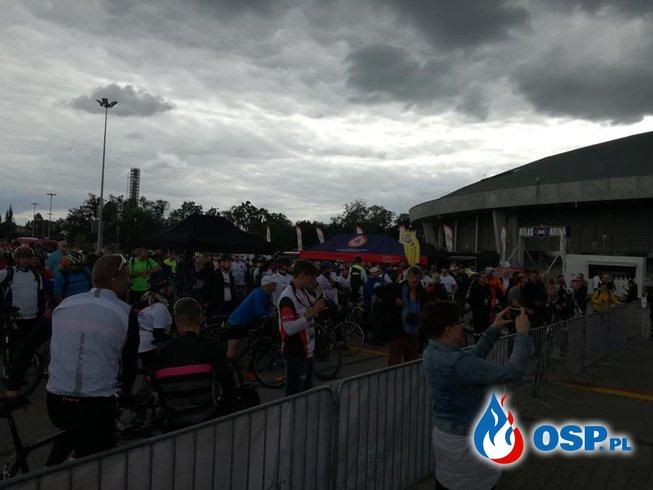 Finał akcji charytatywnej Mundur na Rowerze OSP Ochotnicza Straż Pożarna