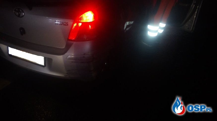 Kolizja samochodu osobowego na DK7 - 2 października 2019r. OSP Ochotnicza Straż Pożarna