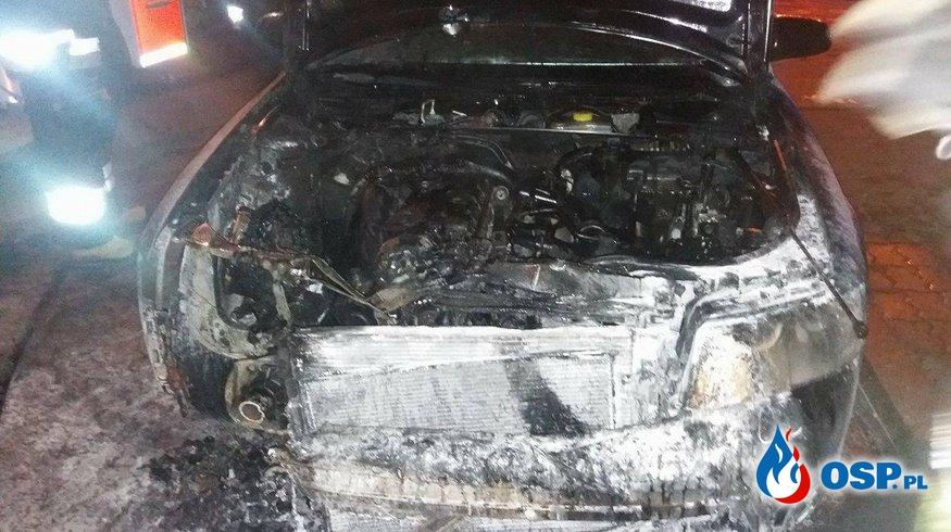 Pożar samochodu osobowego- Cerkwica 11.08.2017r. OSP Ochotnicza Straż Pożarna