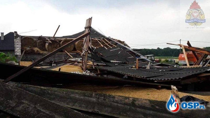 Katastrofa budowlana pod Skierniewicami. Zawalił się budynek. OSP Ochotnicza Straż Pożarna