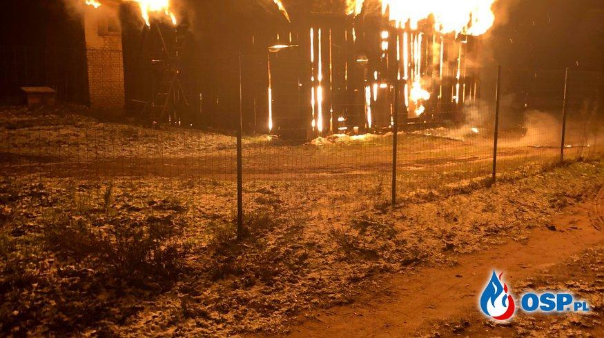 Pożar stodoły - Budachów 02.01.2019 OSP Ochotnicza Straż Pożarna