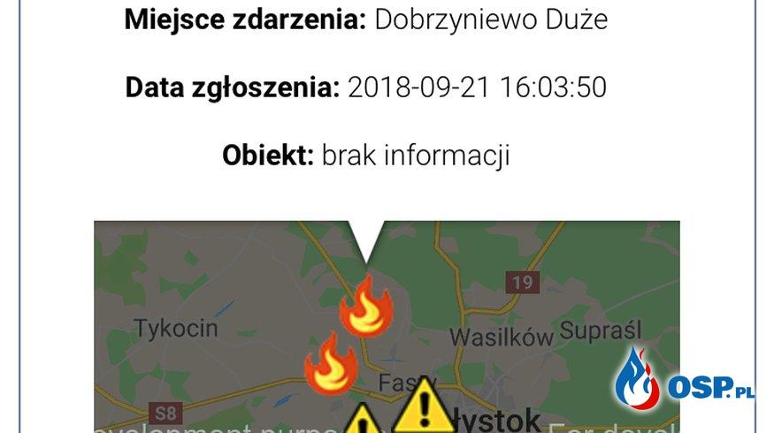 POŻAR W DOBRZYNIEWIE DUŻYM (29/2018) OSP Ochotnicza Straż Pożarna