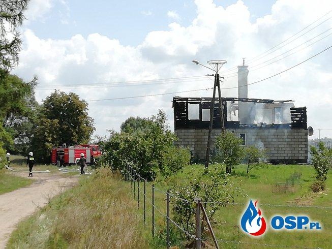 Pożar domu - Rudniki OSP Ochotnicza Straż Pożarna