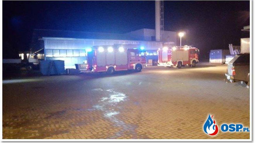 Ćmachowo - pożar w firmie GELG. OSP Ochotnicza Straż Pożarna