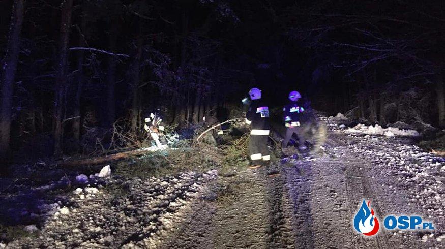 Powalone drzewo między Chrostkowem a Nową Wsią! ( 2 raz) OSP Ochotnicza Straż Pożarna