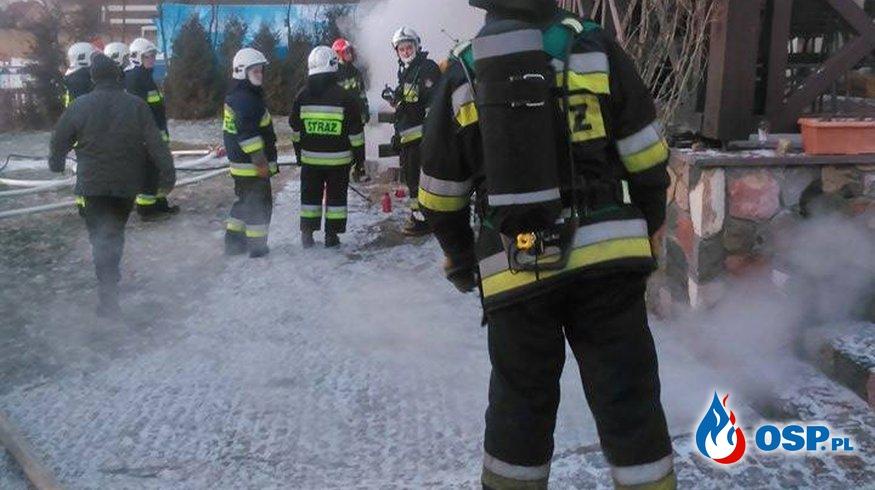 Pożar pensjonatu w Bogaczewie OSP Ochotnicza Straż Pożarna