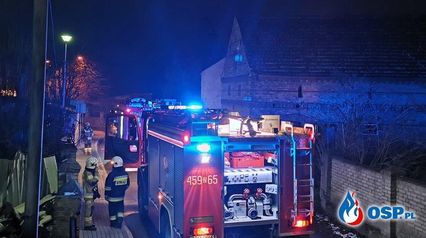 Pożar budynku w Witnicy OSP Ochotnicza Straż Pożarna