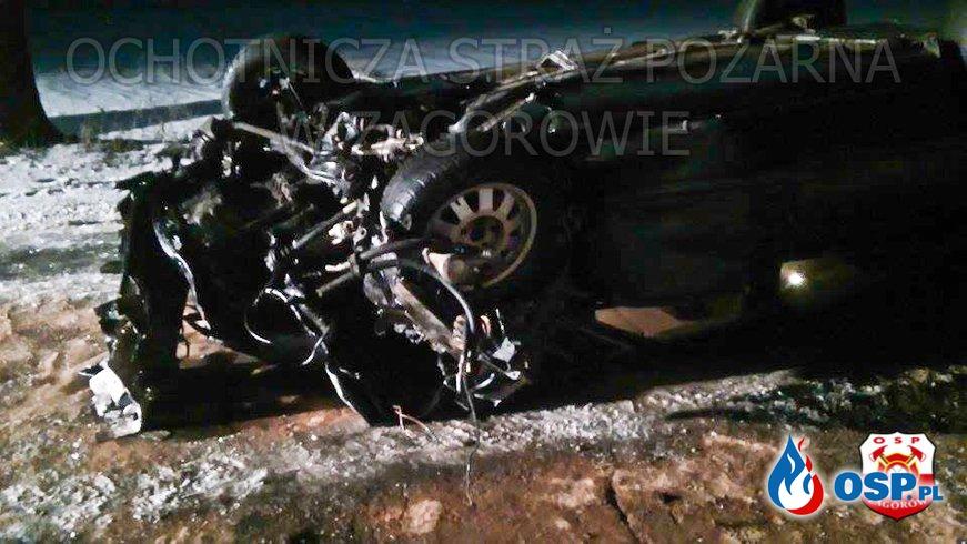 Wypadek drogowy. OSP Ochotnicza Straż Pożarna