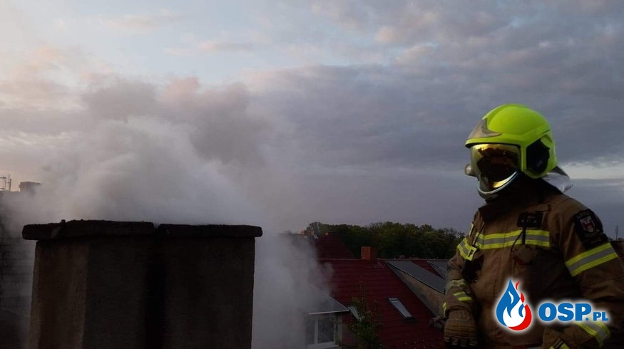 Pożar w Moryniu OSP Ochotnicza Straż Pożarna