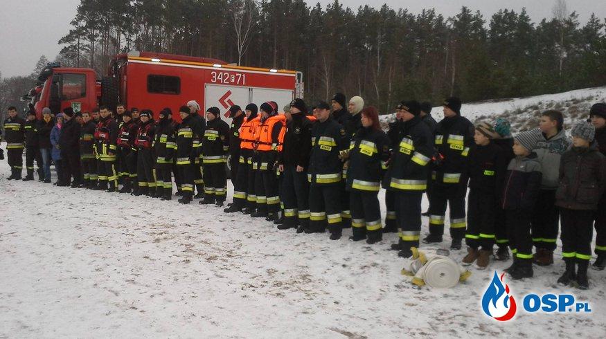 Ćwiczenia na lodzie w Czerwieńsku OSP Ochotnicza Straż Pożarna