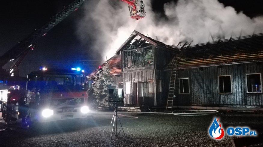 pożar domu w Ispini OSP Ochotnicza Straż Pożarna