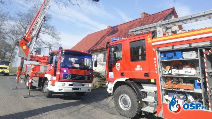 Pożar sadzy w Dolsku OSP Ochotnicza Straż Pożarna
