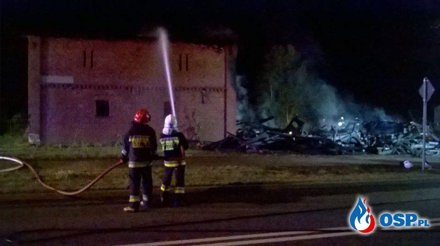 Pożar stodoły m.Uniechów 03/04.07.17r. OSP Ochotnicza Straż Pożarna