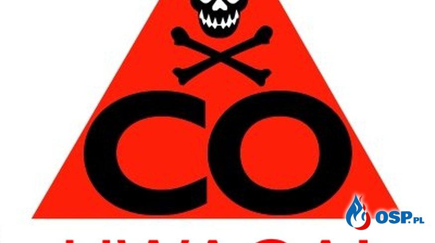 Pożar i podejrzenie tlenku węgla OSP Ochotnicza Straż Pożarna