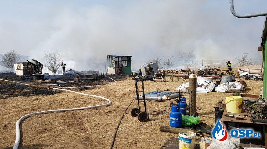 Pożar Złomowiska w Trzebiatowie OSP Ochotnicza Straż Pożarna