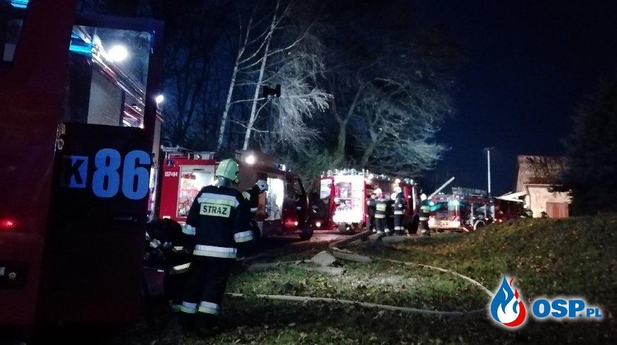 Pożar budynku gospodarczego - Spytkowice ul. Pagory OSP Ochotnicza Straż Pożarna