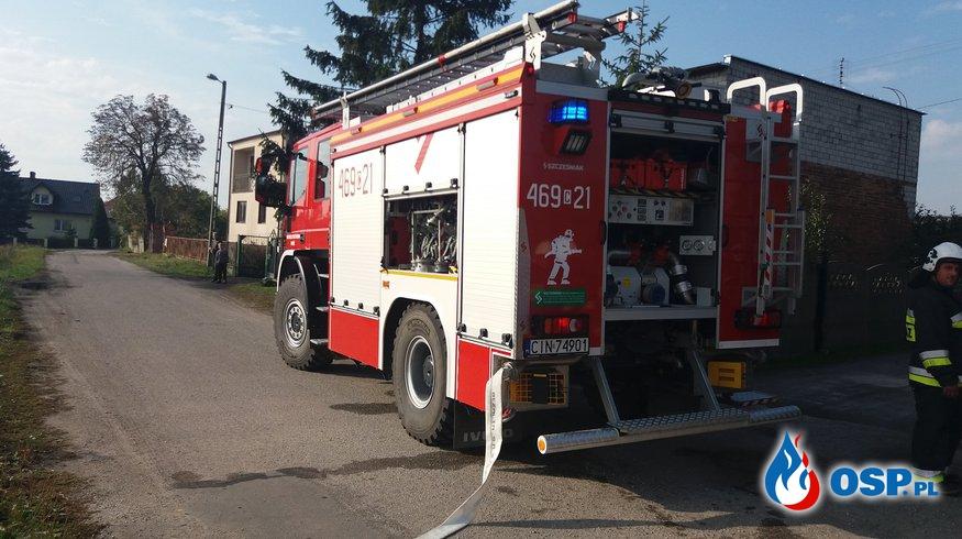 07.10.18 9:24 - POŻAR W KOTŁOWNI, Dobieszewiczki OSP Ochotnicza Straż Pożarna