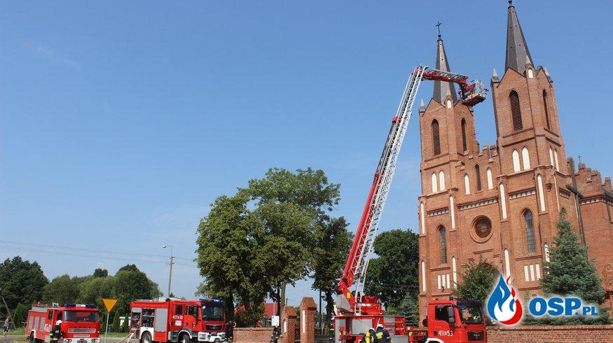 Ćwiczenia strażaków ochotników w Łubinie Kościelnym OSP Ochotnicza Straż Pożarna