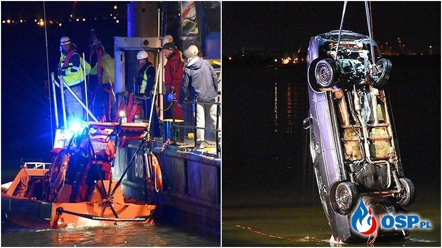 Dwoje 15-latków zginęło po tym, jak samochód wpadł do kanału OSP Ochotnicza Straż Pożarna