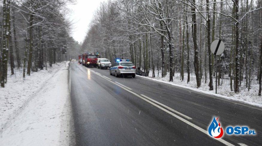 Wypadek - Droga 335 (Chojnów --> Lubin) OSP Ochotnicza Straż Pożarna