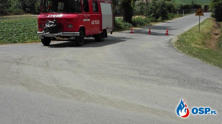 Zabezpieczenie wyścigu kolarskiego OSP Ochotnicza Straż Pożarna