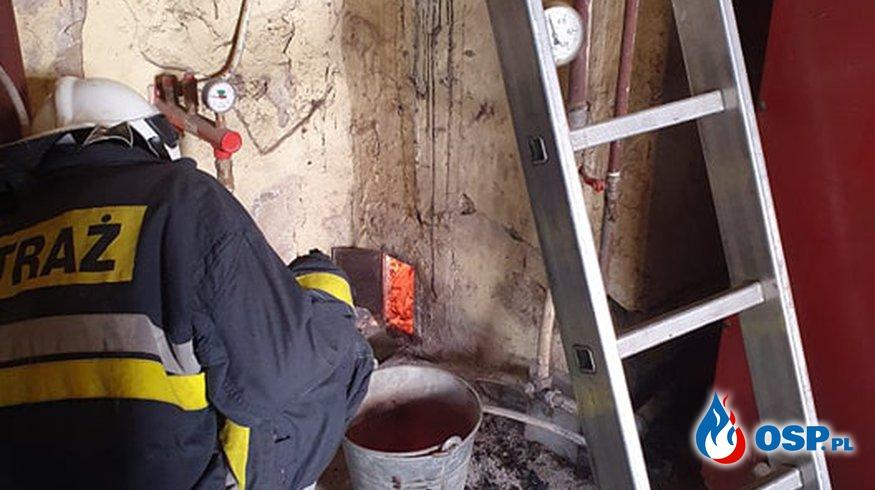 70/2021 Pożar komina w Trzcińsku Zdrój OSP Ochotnicza Straż Pożarna