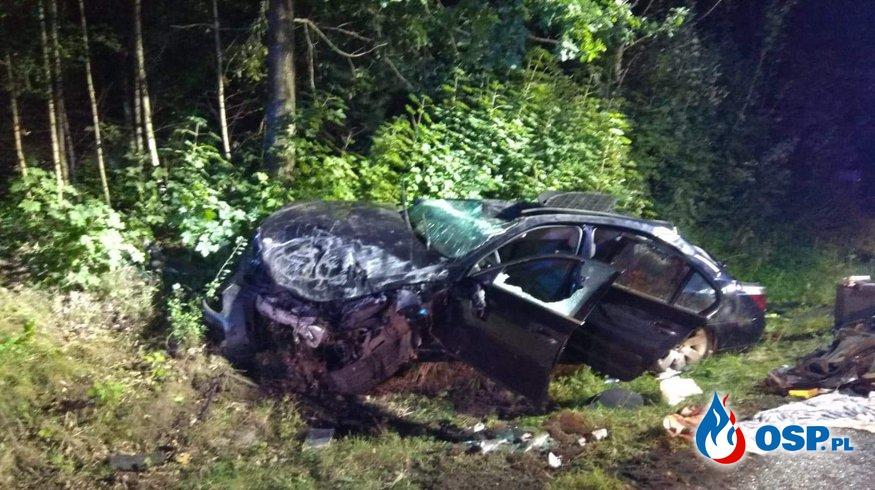 Wypadek drogowy okolice Barwina OSP Ochotnicza Straż Pożarna
