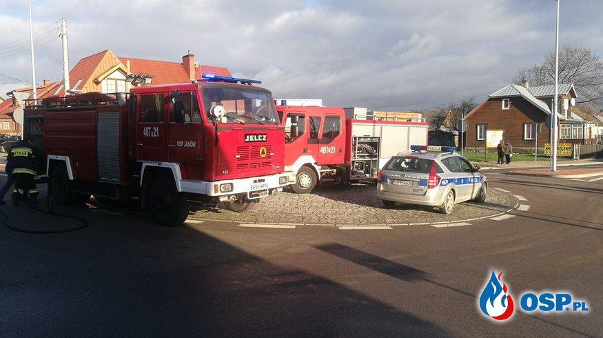 Kolizja w centrum Janowa OSP Ochotnicza Straż Pożarna