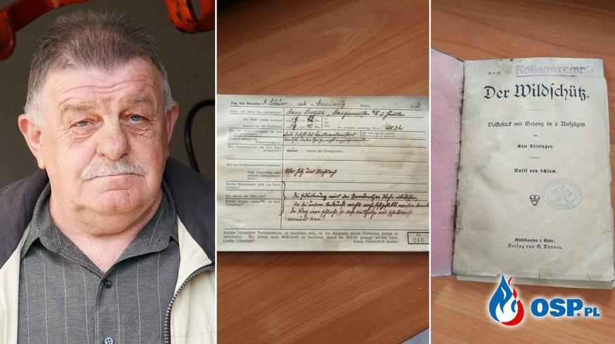 Strażackie dokumenty sprzed blisko 100 lat znaleziono podczas remontu strażnicy OSP Ochotnicza Straż Pożarna