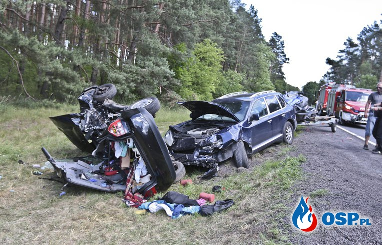 Tragiczna seria wypadków w okolicy Leśniowa Wielkiego - ku przestrodze OSP Ochotnicza Straż Pożarna