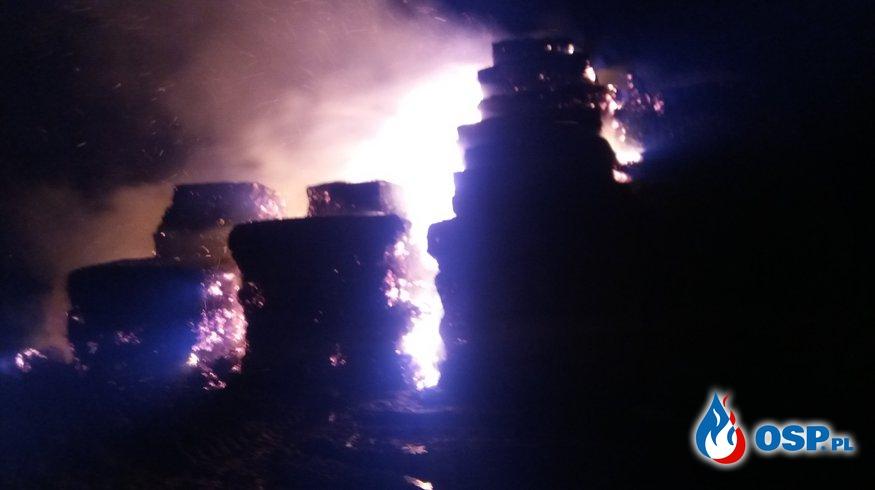 Pożar sterty słomy  OSP Ochotnicza Straż Pożarna