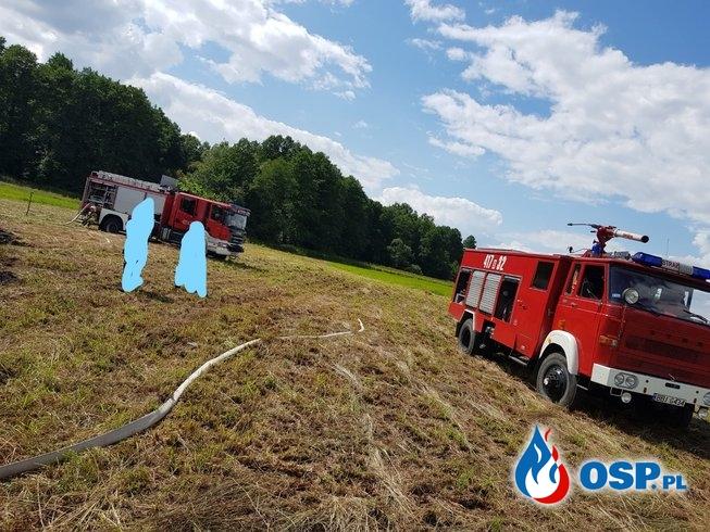 POŻAR PRZYCZEPY SAMOZBIERAJĄCEJ OSP Ochotnicza Straż Pożarna