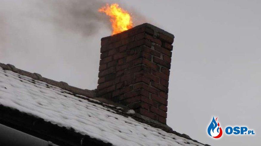 Pożar sadzy w przewodzie kominowym – postępowanie OSP Ochotnicza Straż Pożarna