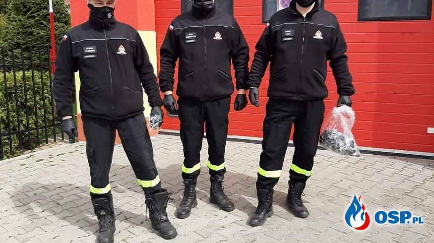 Maseczki ochronne dla mieszkańców Turznicy OSP Ochotnicza Straż Pożarna