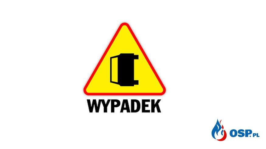 Wypadek na DW956 w Biertowicach.  OSP Ochotnicza Straż Pożarna
